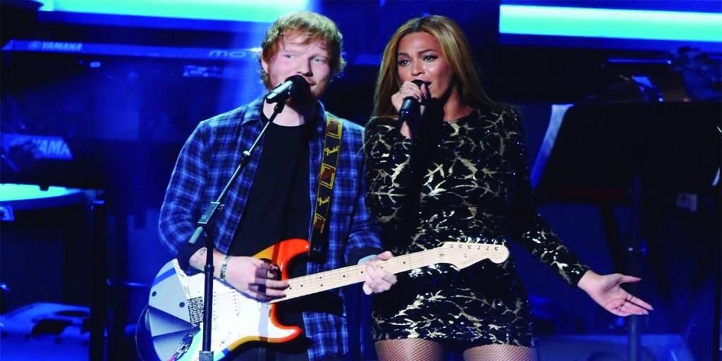 Ed Sheeran junto a Beyoncé, el