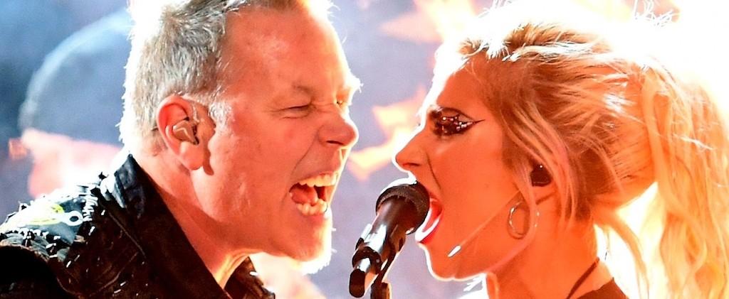 Grammy: Falló el sonido en el show de Metallica y Lady Gaga